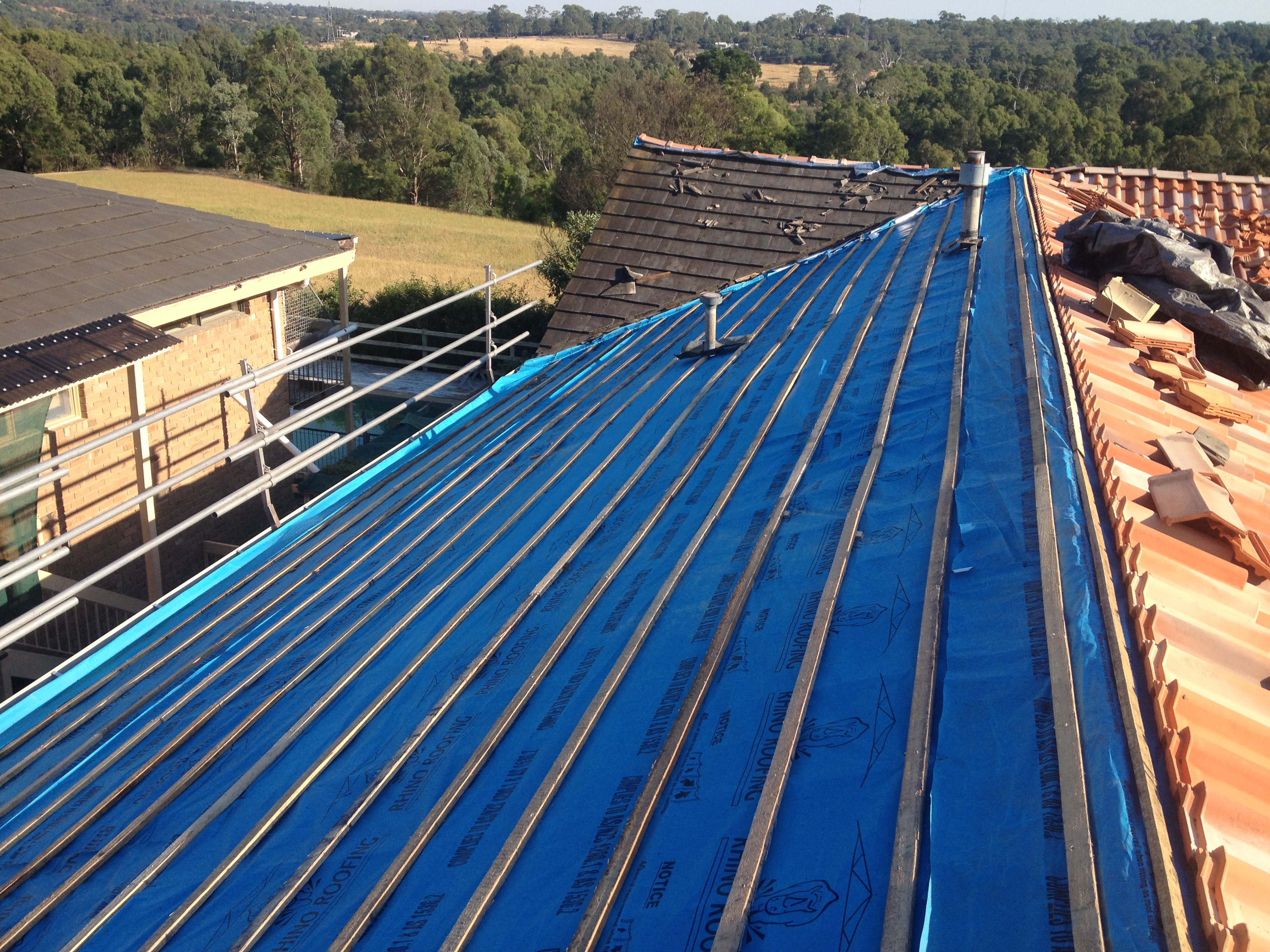 Sarking installation for Roof right
